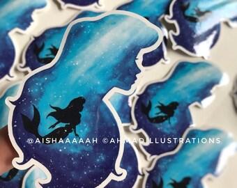 Ariel The Little Mermaid Underwater Disney Princess Sticker