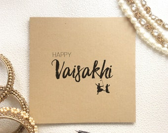 Happy Vaiskahi Card, Vaisakhi Celebrations, Sikh Festival, Punjabi Card, Vaisakhi Greetings, Solar New Year Celebrations, Spring Harvest