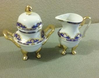 Gorgeous Tiger Yedi Inc Fine Porcelain Cream & Sugar Set,    Perfect Condition