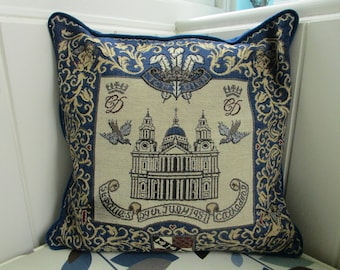 Royal Wedding - commemorative cushion cover for wedding of Prince Charles to Lady Diana Spencer, July 1981
