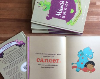 """Customizable Children's Picture Book for Moms with Cancer """"Mama's Knight: A Cancer Story of Love"""". Personalized Gift for mom with cancer."""