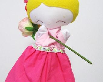 Aurore puppet, hand puppet, puppet girl
