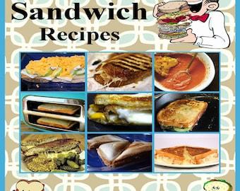 497 Sandwich Recipes E-Book Cookbook Digital Download
