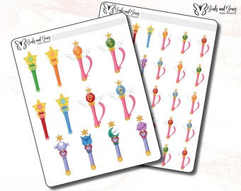 Sailor Moon Inner Senshi Wands / Sailor Moon Objects
