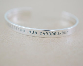 Customize your own Bracelet - Personalized Sterling Silver Cuff Bracelet - Skinny 1/4 inch