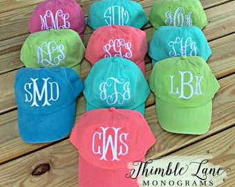 Monogrammed Baseball Cap for Women, Personalized Ball Cap, Monogram Cap, Baseball Cap for Women, Bridesmaid Gift, Personalized Hat,