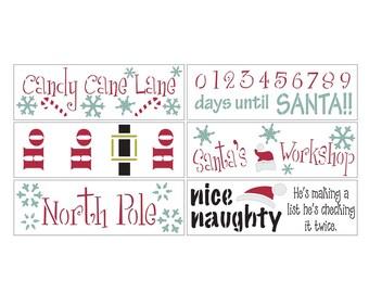Here Comes Santa DIY Christmas Stencil Kit
