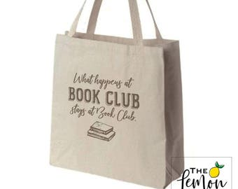 Book Bag Tote |  Book Club Gift  |  Library Book Tote Bag  |  Book Lover Gift  |  Loves to Read  |  Loves Books  |  Unique Book Gift