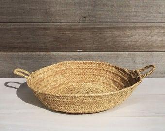 Palm leaf basket / basket / Moroccan basket / handwoven basket / rustic / interior decoration / boho