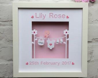 Personalised baby girl gift ballerina nursery art baby name personalised baby gift baby girl gift new baby gift baby keepsake gift birth announcement papercut nursery wall art personalised gift negle Images