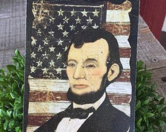 Abe Lincoln Hang Tag