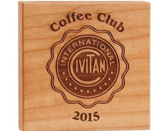 """3-3/4"""" x 3-3/4"""" Maple Square for Engraving"""