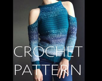 "BRYCE ""cold shoulder"" CROCHET PATTERN"