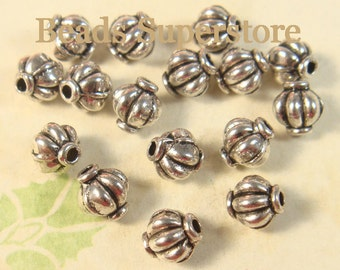 6 mm x 5.4 mm Antique Silver Spacer Bead - Nickel Free, Lead Free and Cadmium Free - 20 pcs