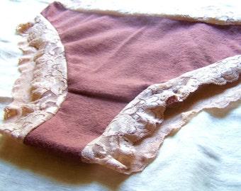 Lovely Lacey hemp/organic cotton undies LOWRISE