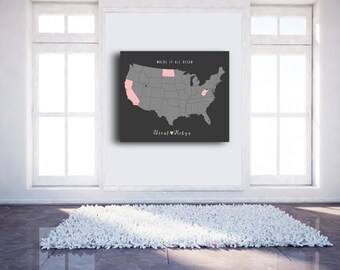 California Map Art Print US Map Wall Art Wedding Gifts Personalized Map Art Original Custom Map Art Print Available in Multiple Sizes