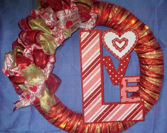 Valentines Love Wreath
