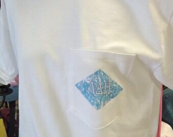 Alpha Delta Pi Diamond Lilly Pulitzer Inspired Digital Tee