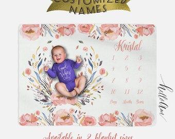 Personalized Baby Blanket - Baby Name Blanket - Monogrammed Baby Blanket - Monogrammed Receiving Blanket - Custom Baby Blanket - Swaddle