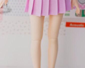 BJD Pleated Skirt - Slim MSD Minifee or SD - Solid Light Pink