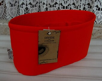 Ready to ship / Purse ORGANIZER Insert Shaper / Orange / Size SMALL / 10.5 x 3.5 x 6H oval / STURDY & Durable / Choice of bottom type