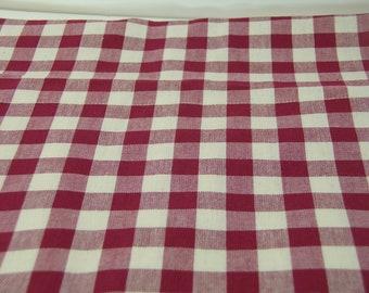 Cranberry Check Home Decor Multi Purpose Fabric 1 1/2 Yards