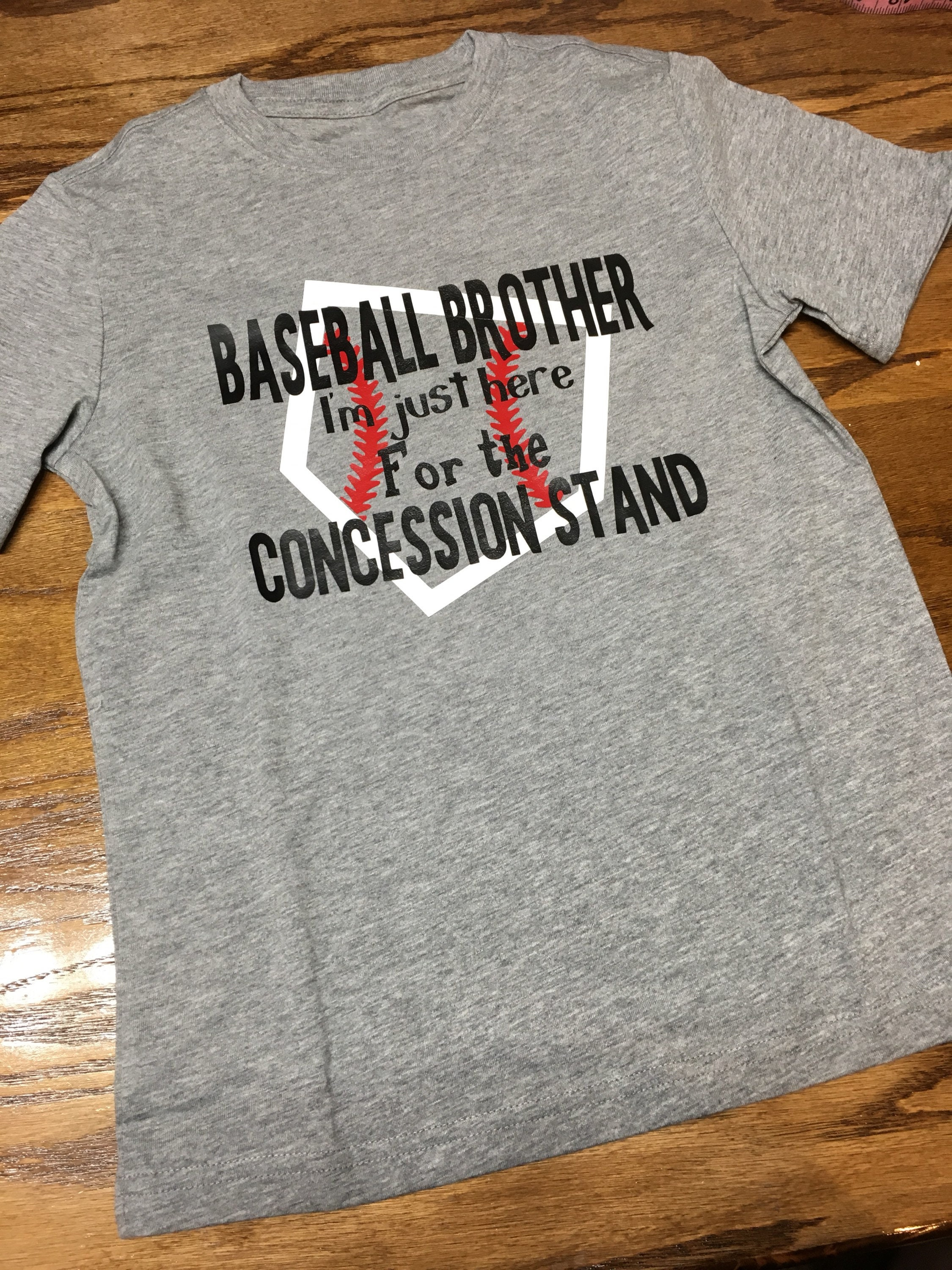 Just For Fun Drawings Education: Baseball Brother Shirt I'm Just Here For The Concession