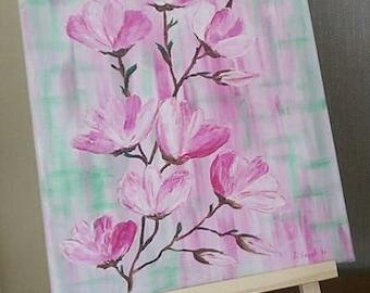 Pink magnolia brunch