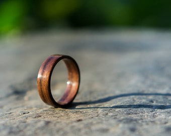 Granadillo bentwood ring, Mens wood ring, Womens wood ring, Wooden ring, Wood wedding ring, Engagement wood ring, Handmade wood ring