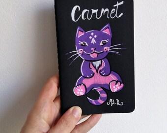 Carnet noir Funny Cat