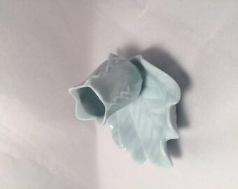 Blue bone china toothpick holder
