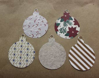 Round ornament gift tag