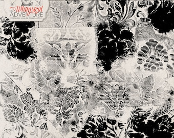 Handmade Photoshop Brushes, Wallpaper Stamps, Commercial Use OK, Digital Stamps, Instant Download, Floral, Ornamental, Acrylic Paint