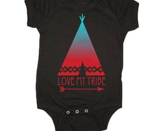 The Original Love My Tribe Baby Onsie, Baby Gifts, Baby Clothes, Baby Shower, Teepees, Baby Clothes by Feather 4 Arrow
