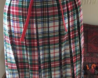 Women's Kilt-Vintage Kilt-80s Kilt-Real Kilt-Punk Kilt- Size 10-Wool Kilt-Tartan Skirt-Tartan Kilt-Australia