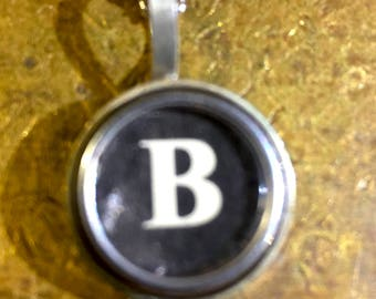 B Typewriter Key Pendant