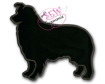 Australian Shepherd Silhouette Applique Design