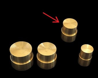 "MEDIUM Direct Replacement Brass Pushrod Plunger for Extruding ""Swedish-Wrapped"" Coin Rings"