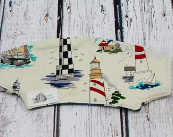 short headrest cover -  lighthouse headrest cover - lillebaby accessories - baby carrier accessories - reversible cover - baby shower gift