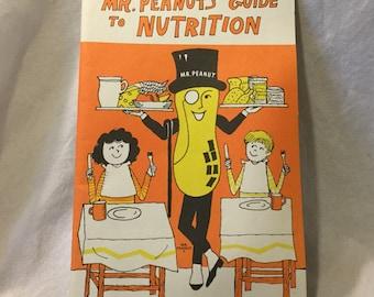 Vintage Mr Peanut's Guide to Nutrition Booklet