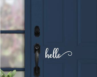 Hello Door Vinyl Decal