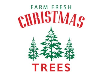 Boerderij verse kerst bomen DIY sticker voor houten DB419