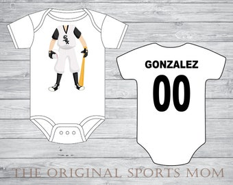 Personalized Baseball/Sport One Piece and/or Tees! Baseball/Chicago! Great as a Babyshower Gift and your little one's first photoshoot!