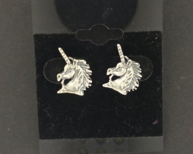 Unicorn Head Earrings in Gold made to order