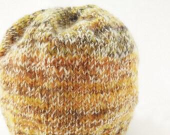 Handknit handspun Baby or Toddler Hat