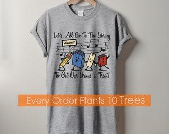 Library Shirt, Book Shirt, Cute Book Shirt, Reading Shirt, Book Lover Gift, Book Tee, Funny Book Shirt, Book worm