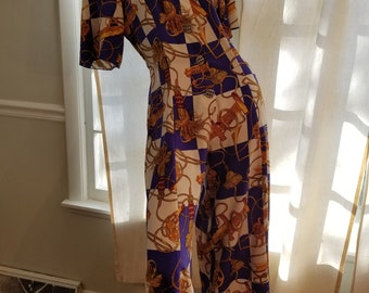FREE  SHIPPING  1980  Silk  Jumpsuit