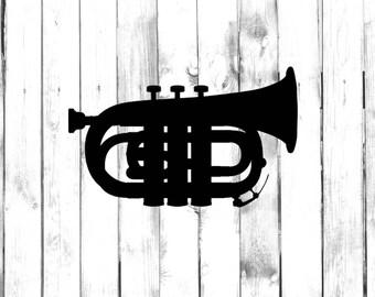 Pocket Trumpet - Car/Truck/Home/Laptop/Computer/Phone Decal