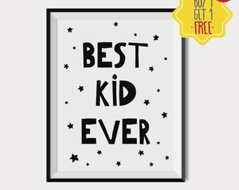 Best kid ever print, nursery art print boy, Kids room decor, Boy Nursery Wall Art, baby boy room printable, baby gift ideas, above baby bed