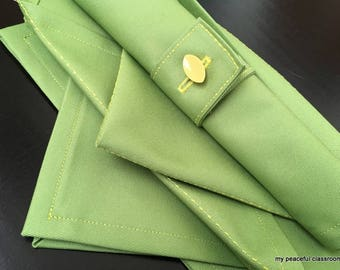 Napkin Folding (and Rolling!): A Montessori Practical Life Activity